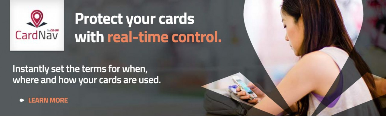 CardNav by CO-OP, Protect your cards with real-time control