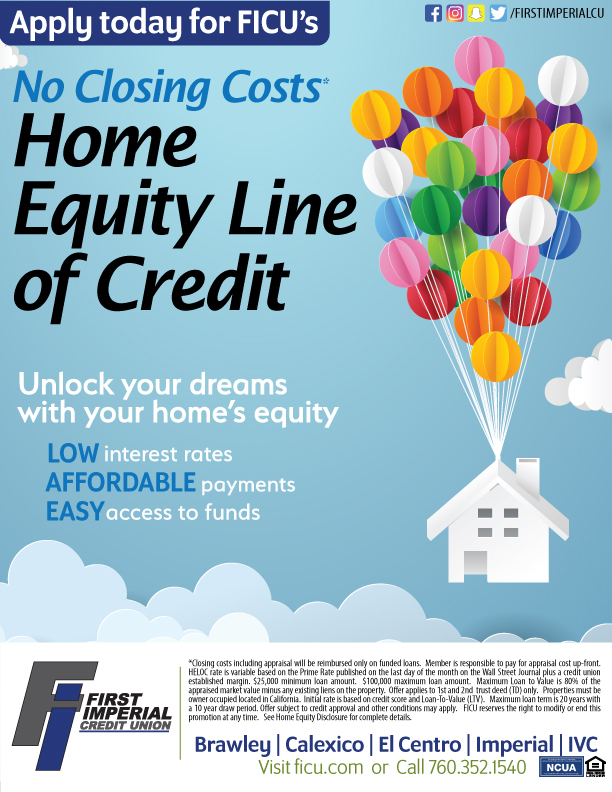 Apply today for FICUs No Closing Costs Home Equity Line of Credit