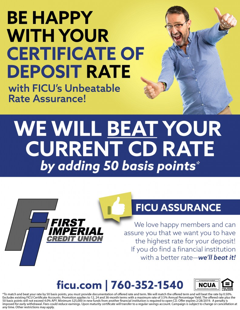 Be happy with your certificate of deposit