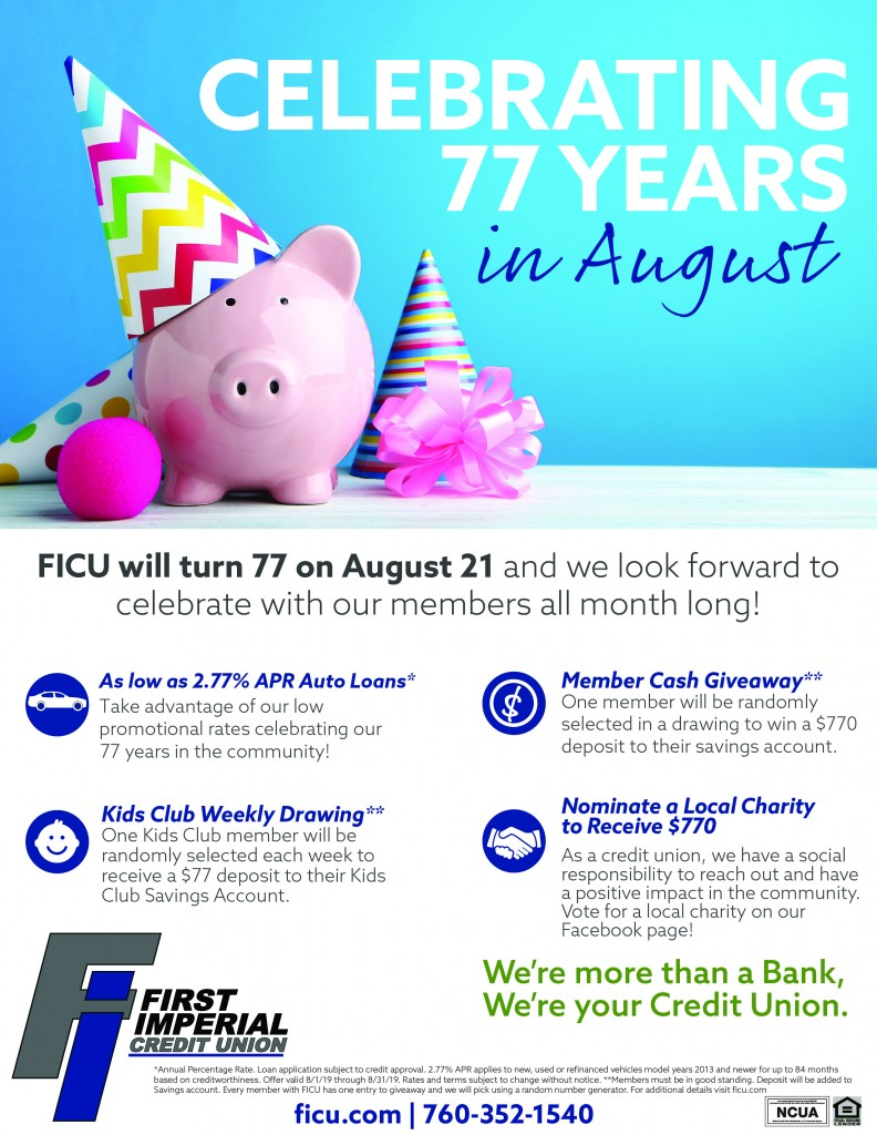 Celebrating 77 years in August