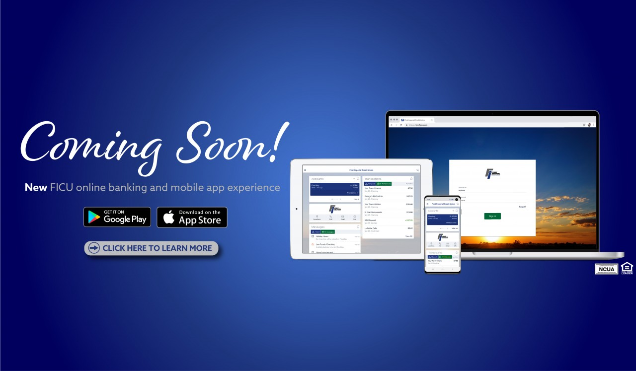 New Online Banking & Mobile App coming soon