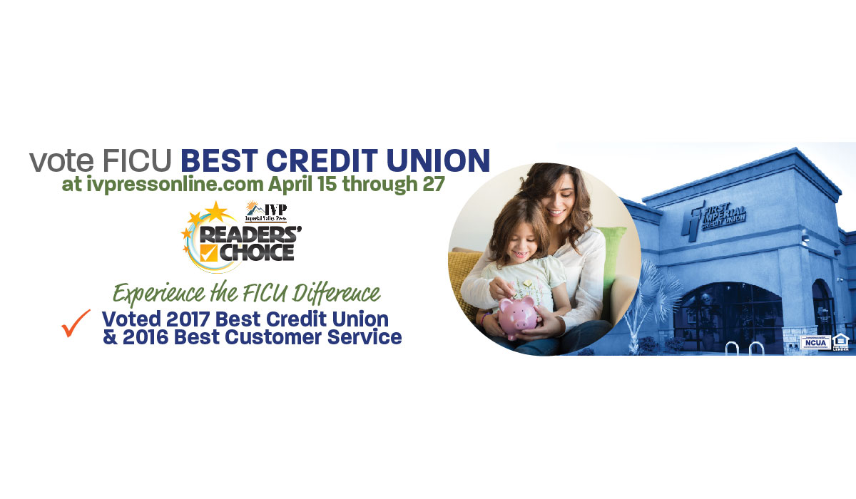 Vote FICU for 2018 IVP Readers Choice Best Credit Union